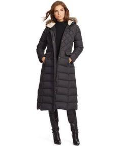 Lauren Ralph Lauren Hooded Quilted Puffer Coat