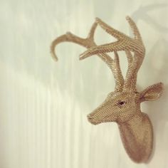 Champagne Gold Diamante Bling Stag Head from Made With Love | Made By Made With Love Designs | £195.00 | BOUF