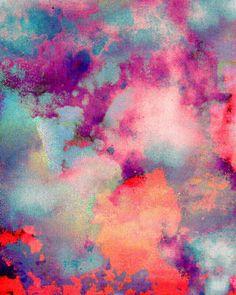Tie dye = prints for living room