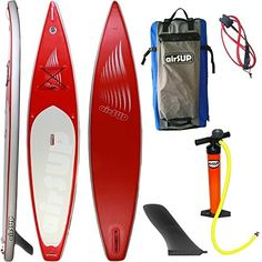 """airSUP 12'6""""x30""""x6"""" Inflatable SUP 15psi Stand Up Paddleboard, Roll It up and Store in the Bag, Race / Cruise, Super Light! ** Check out the image by visiting the link."""