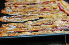 Cooking Bacon in the Oven from addapinch.com