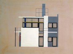 Gerrit Rietveld: Rietveld Schröderhuis (gevel achterzijde), 1924