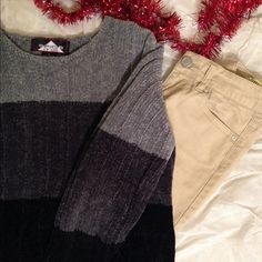 ‼️️Final Sale‼️Grey/Black Sweater Warm and cuddly.! Size small. 20% off orders with two or more items. Trades PP. Free gift with purchase over $20. Sweaters