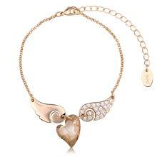 Champagne Heart Bracelet