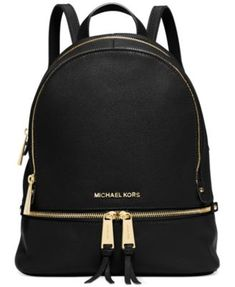 MICHAEL Michael Kors Rhea Zip Small Backpack $298.00 From the sidewalk to the catwalk, you won't want anything on your arm when you see this MICHAEL Michael Kors backpack—it's right on-trend and oh-so-easy to tote.