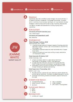 Modern Microsoft Word Resume Template Hamidah By Inkpower