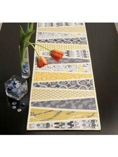 Reflected Wedges Table Runner, as seen in Modern Patchwork 2012 | InterweaveStore.com