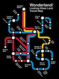 o mapa do metrô da Alice