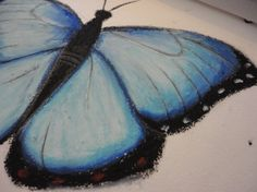 I love oil pastel and I'm actually getting blue butterflies in a tattoo soon!