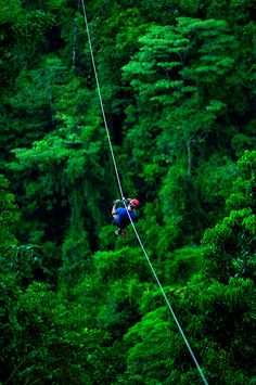DONE:  Costa Rica - Ziplining through the rainforest