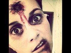 ▶ LAST-MINUTE Halloween Tutorial - ohne Latex, Kunstblut und Co. - YouTube