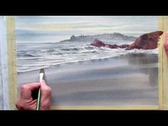 Drawing & Painting BALATON Lake in Watercolor - How to Paint Side of Lake in Aquarelle. Waterside painting in watercolor. Paint Side of . Watercolor Video, Watercolor Painting Techniques, Watercolor Landscape Paintings, Landscape Drawings, Watercolour Tutorials, Painting Videos, Painting Lessons, Watercolor Artists, Painting Tutorials
