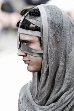 fletchingarrows:   Boris Bidjan Saberi Spring 2011  face armor for the shy