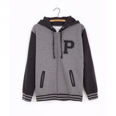 Pusheen Varsity zip-up hoodie (€45) ❤ liked on Polyvore featuring tops, hoodies, zip up hoodies, zip up tops, zip up hoodie, hooded sweatshirt and hooded pullover