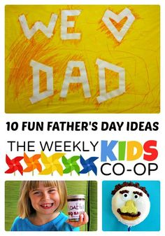 10 Fun Fathers Day Ideas from The Weekly Kids Co-Op at B-.comInspiredMama