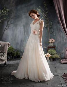 naomi neoh marianne blush pink wedding dress lace straps v back