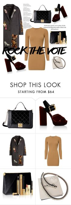 """Untitled #302"" by msbillj ❤ liked on Polyvore featuring Betsey Johnson, Prada, Dolce&Gabbana, A.L.C., Yves Saint Laurent and Chanel"