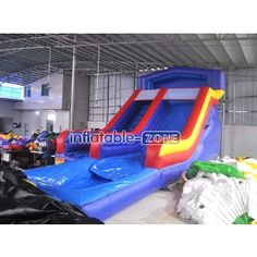 Play 9*4*4.5m blow up water slides for rent