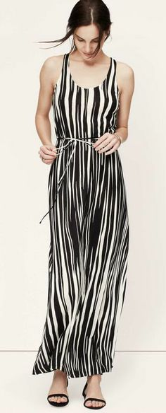 Striped Racerback Maxi Dress @Pascale De Groof