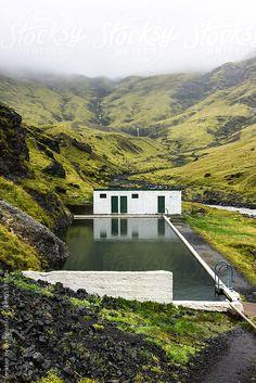 The abandoned geothermal pool of Seljavellir in Iceland by Jonatan Hedberg