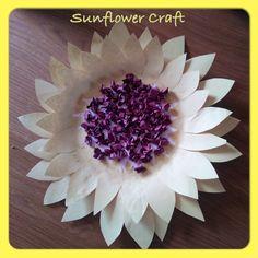 Sunflower Paper Plate