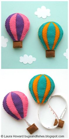 Bugs and Fishes by Lupin: How To: Sew a Felt Hot Air Balloon Tape Measure Cover