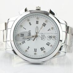 The minimalist white Roman numerals steel strip watch