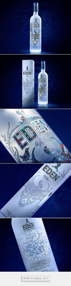 Eden Vodka packaging design by Uprise (Russia) - http://www.packagingoftheworld.com/2016/09/eden-vodka.html