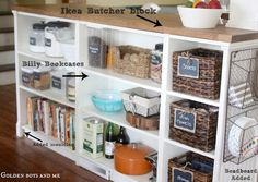 Kitchen Island from Bookcases