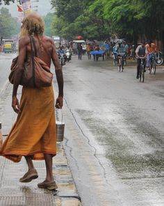 Street man in India