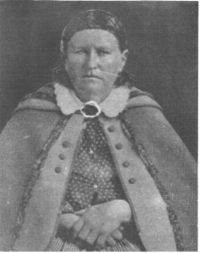Cynthia Parker was kidnapped by Comanche Indians when she was 9 years old. 24 years later on Dec 18, 1860, after she had married Chief Peta Nocona and had 3 children, she was captured in a raid and returned to her family. She longed to return to her Indian family until she died.