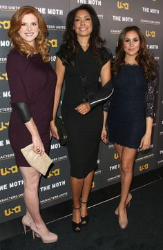Sarah Rafferty, Gina Torres & Meghan Markle #Suits