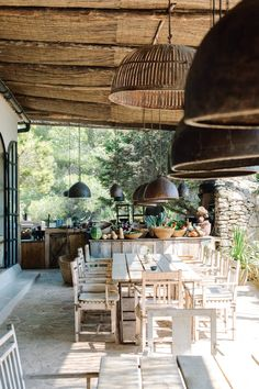 La Granja made a big noise when it opened on Ibiza in The lovechild of Claus Sendlinger, a former clubber, one-time CEO of Design… Porches, Holiday Competitions, Outdoor Seating, Outdoor Decor, Ibiza Beach, Ibiza Spain, New Farm, Ibiza Fashion, Event Company