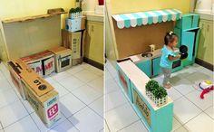 Bà mẹ khéo tay 'hô biến' thùng các tông cũ thành gian bếp tuổi thơ cho bé - http://www.daikynguyenvn.com/tin-giai-tri/ba-me-kheo-tay-ho-bien-thung-cac-tong-cu-thanh-gian-bep-tuoi-tho-cho-be.html