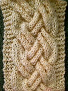a hand knit cable to try