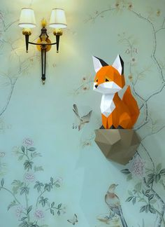 Origami for Everyone – From Beginner to Advanced – DIY Fan 3d Paper Art, Paper Crafts Origami, Origami Art, Paper Crafting, 3d Templates, Paper Craft Templates, Fox Toys, Paper Animals, Paper Stars