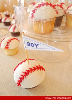 f baseball baby shower cupcakes boy theme baby shower ideas, baseball party ideas Baby Shower Cupcakes For Boy, Cupcakes For Boys, Baseball Cupcakes, Baby Party, Baby Shower Parties, Baby Shower Themes, Shower Ideas, Baby Boy Baseball, Sports Baby