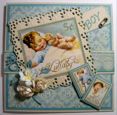 graphic 45 baby stamps | Hope you like my two vintage baby cards and thanks for visiting my ...