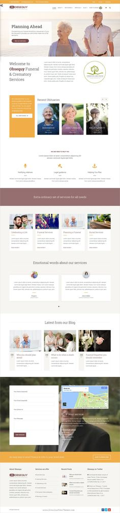 Sonic Responsive Template HTML5 - Responsive Templates - funeral announcements template