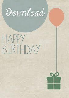 birthday card {freebie} | titatoni ♥ DIY