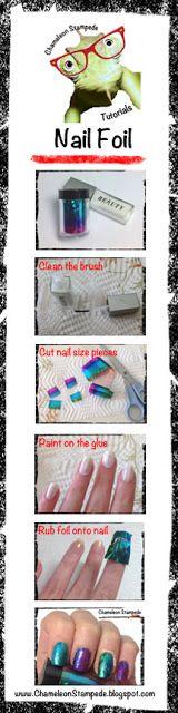 Chameleon Stampede Nail Blog: KKCenterHK Nail Foil Review and Tutorial