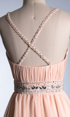 Chiffon Backless Short Formal Dresses FDA0018