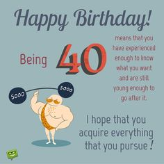 Birthday Wishes - Happy Birthday Quotes And Images Birthday Wishes For Coworker, 40th Birthday Messages, Birthday Wishes Cake, 40th Birthday Quotes, 40th Birthday Invitations, 40th Birthday Gifts, Birthday Images, Birthday Greetings, Funny Birthday