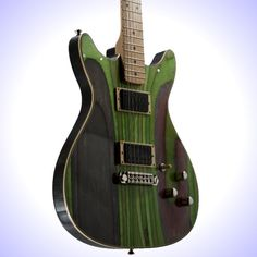 Each guitar made by Prisma Guitars is a unique, one of a kind, hand-made guitar. All of their guitars are made from wood recycled from broken skateboard decks.