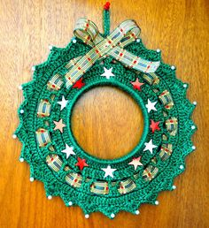Crochet Wreath, Crochet Cord, Crochet Ornaments, Filet Crochet, Crochet Doilies, Crochet Christmas Trees, Christmas Crochet Patterns, 1st Christmas, Christmas Wreaths