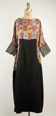 Dress, Vitaldi Babani (French, born Middle East, active 1895–1940), Date: ca. 1920, silk, metal