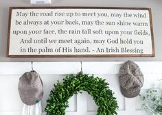 Old Irish Blessing Entry Sign