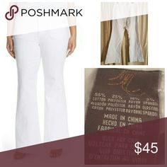 Seven7 Melissa McCarthy Flare Leg **Brand New** all white chic flare leg jean. These white jeans will be a staple piece this spring/summer. Get them before they're gone! Seven7 Jeans Flare & Wide Leg