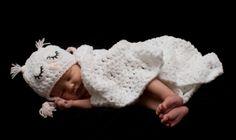 BABY OWL HAT, Baby crochet hat, white baby owl hat, Pink hat,  photo prop, baby girls owl hat, Baby shower gift, KerryJayneDesigns