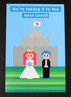 8 bit Video Game Wedding Invitation by AwesomeSauceDesigns, $3.00